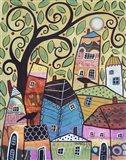 Small Village 2 Art Print