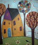 House Trees & Daisies Art Print