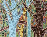 Abstract Trees 1 Art Print