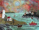 Blue Sea Art Print