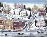 Winter Town Art Print