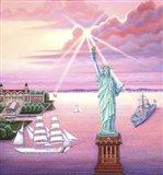 Statue of Liberty Sunset Art Print