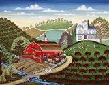 Farm Near Romeo Art Print