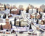Winter In Galena Art Print