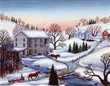 Winter Mill Art Print