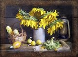 Sunflowers Autumn Harvest Still Life Art Print
