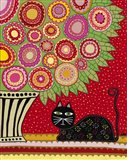Feline Florist 1 Art Print
