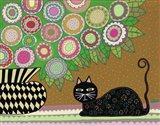 Feline Florist 2 Art Print