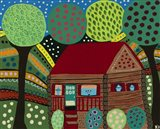 House In The Hills Art Print