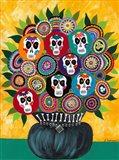 Sugar Skull Bouquet Art Print