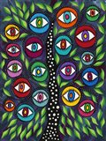 Evil Eye Tree II Art Print