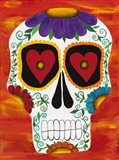 Fire Sugar Skull Art Print