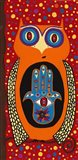 Owl With Evil Eye Hamsa Art Print