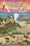 Yellowstone Park Scene Art Print