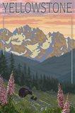 Yellowstone Mountains Art Print