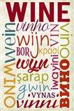 Wine In Different Languages Art Print