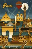 Paris Evening And Balloon Art Print