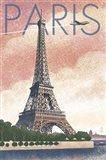 Paris Pink Eiffel Tower Art Print
