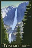 Yosemite Mountains And Trees Art Print