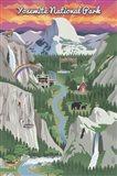 Yosemite Mountains And Rainbow Art Print