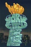 New York Liberty Torch Text Art Print