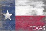 Texas Flag Wood Art Print