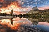 Yosemite Cloud Landscape Art Print