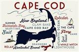 Cape Cod New England Text Art Print