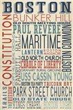 Boston Text Art Print