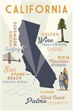 California State And Text Art Print