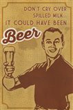 Spilled Milk And Beer Art Print