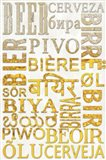 Beer In Different Languages Art Print
