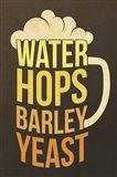 Water Hops Barley Art Print