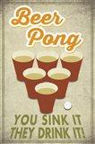 Beer Pong Sink It Art Print