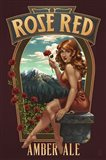 Rose Red Amber Ale Art Print
