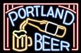 Portland Beer Fluorescent Sign Art Print
