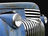 Chevy Grill Blue Art Print