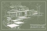 301 Cypress Dr. Moss - Inverse Art Print