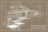 301 Cypress Dr. Sepia - Inverse Art Print