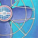 Bel-Aire Fan - Aqua Art Print