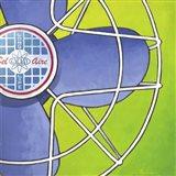 Bel-Aire Fan - Green Art Print