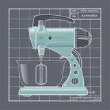 Galaxy Mixer - Aqua Art Print