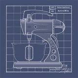 Galaxy Mixer - Blueprint Art Print
