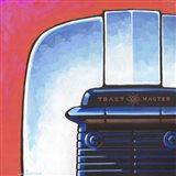 Galaxy Toaster - Red Art Print