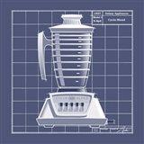 Galaxy Blender - Blueprint Art Print
