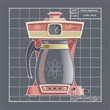 Galaxy Coffeemaid - Flamingo Art Print