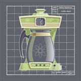 Galaxy Coffeemaid - Lime Art Print