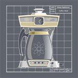 Galaxy Coffeemaid - Pewter Art Print