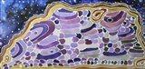 Purple Grape Agate Art Print