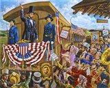 Lincoln to Washington Art Print